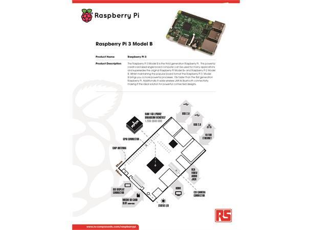 raspberry pi 3 model b  w   wifi  u0026 bt 4 1 quad 1 2ghz  1gb