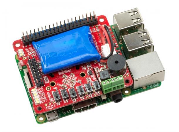 UPS PIco Plus - UPS & I2C Control Hat - kraftigere og oppgradert